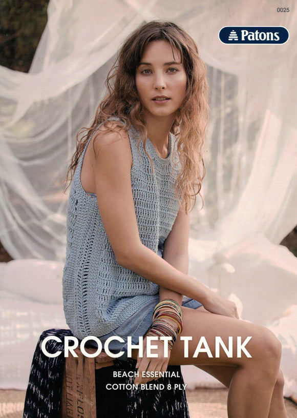 Patons Leaflet 0025 - Crochet Tank (Patterns Books & Leaflets)