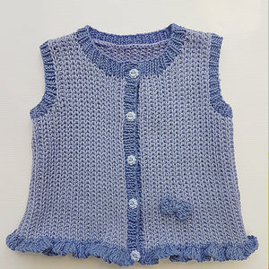 Children - Vest in Slipped Rib with Frilled Hem (Pattern Downloads)