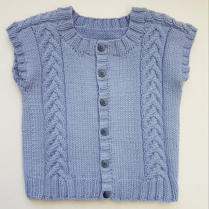 Children - Vest with Cabled Shoulder (Pattern Downloads)