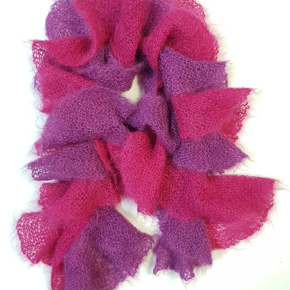 Scarf - Dual Coloured Twirly Style (Pattern Downloads)