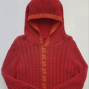 Children - Hooded Ribbed Jacket (Pattern Downloads)