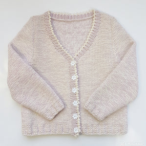 Children - V-Neck Cardigan with Picot Trim (Pattern Downloads)