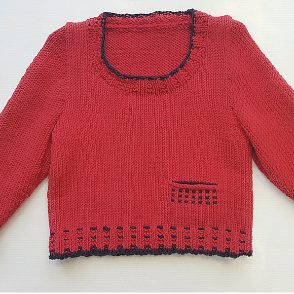 Children - Round Neck Sweater (Pattern Downloads)