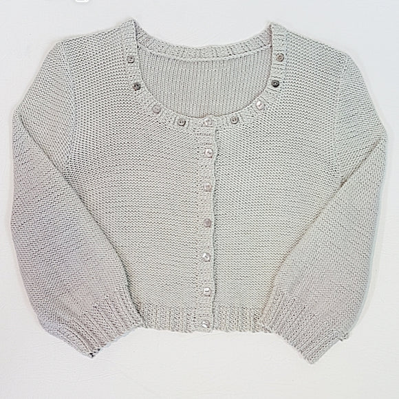 Women's Cardigan in Cropped Style with Twisted Rib Bands (Pattern Downloads)