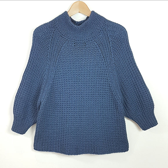 Women's Sweater in Chunky Polo Style  (Pattern Downloads)