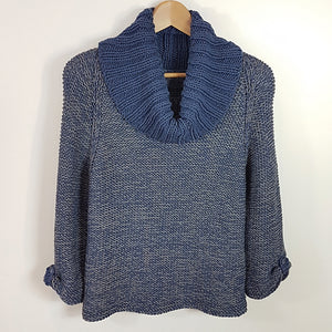 Women's Sweater in Easy Pattern with Single Cowl Separate (Pattern Downloads)
