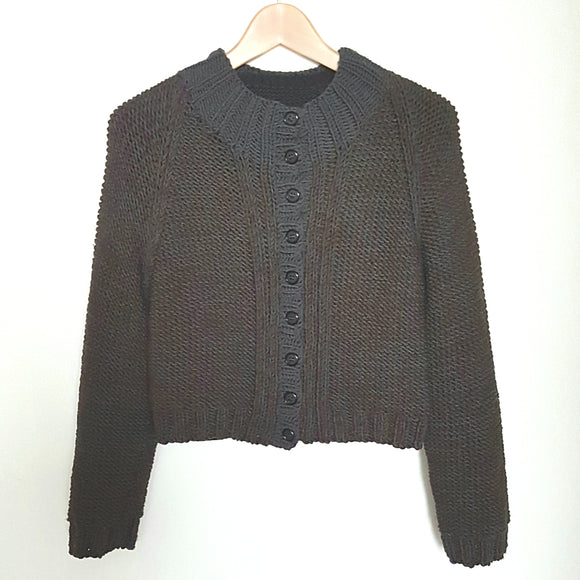 Women's - Cardigan in Chunky Cropped Style (Pattern Downloads)