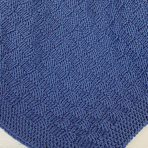 Blanket in Double Yarn Basketweave Pattern (Pattern Downloads)