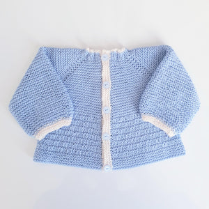 Children - Baby Cardi - Andy Top Down 4 Ply Textured Jacket (Pattern Downloads)