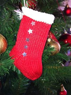 Xmas Stocking - Mini Tree Decoration (Pattern Downloads)