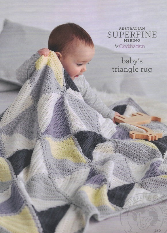 Cleckheaton Leaflet 440 - Crochet Baby's Triangle Rug (Accessories)