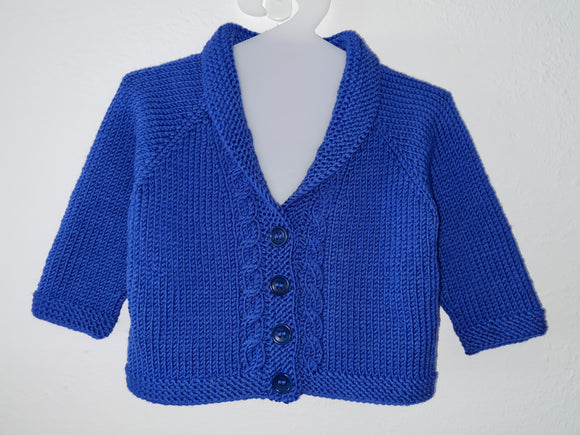 Children - Hipster Shawl Collared Cardigan (Pattern Downloads)