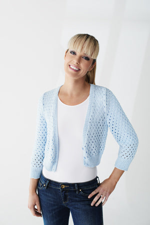 Women's - Cardigan in Staggered Eyelet Stitch (Pattern Downloads)