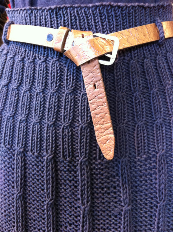 Women's Skirt in A-Line Cable Pattern (Pattern Downloads)