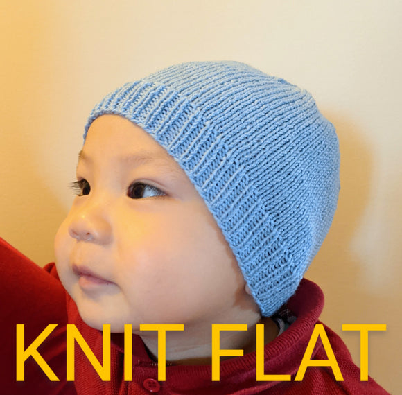 Family - KNIT FLAT 4ply Family Beanies