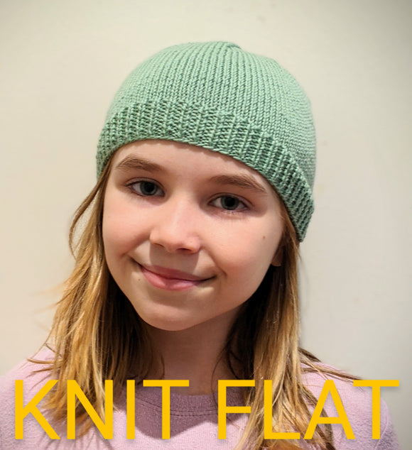 Family - KNIT FLAT 5ply Family Beanies