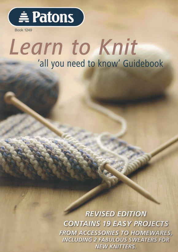 Technique - Patons Book 1249 Learn to Knit
