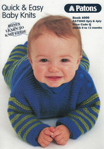 f08a3367b2d1 Patons Book 6000 - Quick   Easy Baby Knits (Patterns Books ...