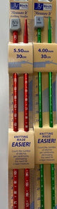 Birch Measure It Knitting Needles 30cm (Knitting needles)