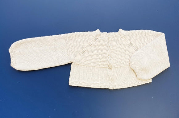 Children - Isobel Top Down 4 Ply Short Baby Jacket (Pattern Downloads)