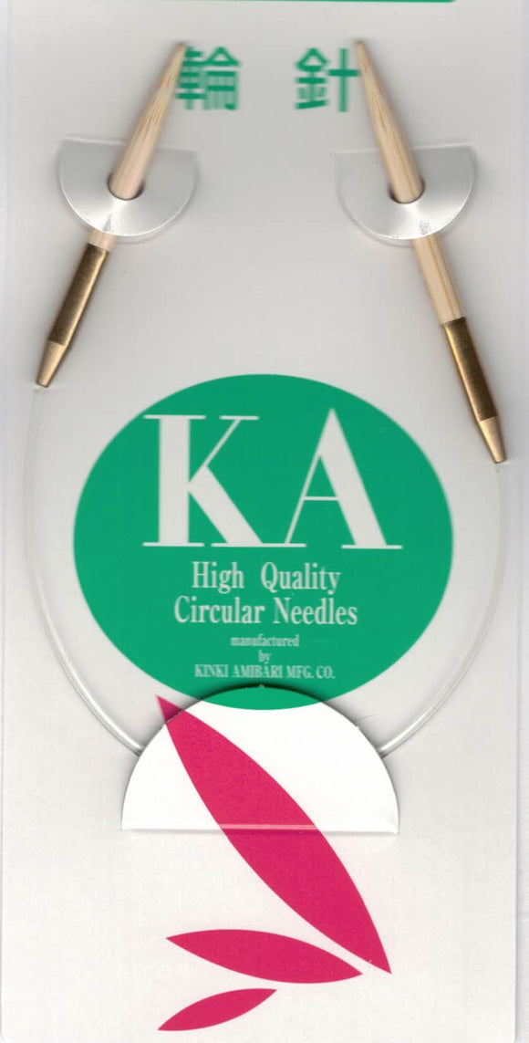 Bamboo KA High Quality Circular Asymmetric Needles 23cm (Knitting Needles)