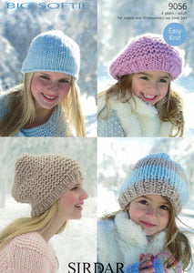Accessories - Sirdar Big Softie Leaflet 9056 Hats