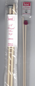 Single Point Knitting Needles Ivore 35cm (Knitting Needles)