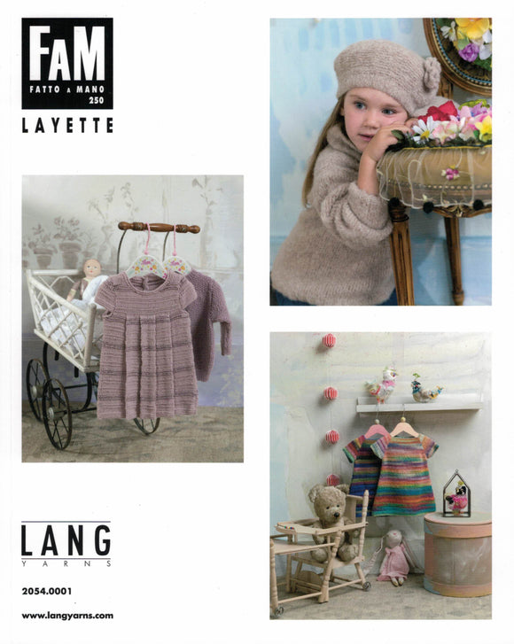 Baby/Children - Lang Yarns Fatto A Manno Book No. 250 Layette