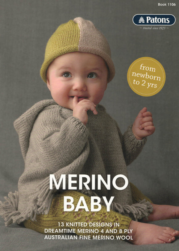 Baby/Toddler - Patons Book 1106 Merino Baby (out of stock)