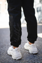 Slant Logo Sweatpants - Black