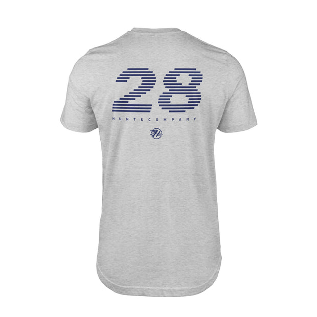 Hunt Racing #28 Tee - Gray