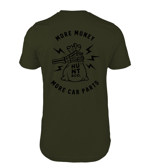 PRE-ORDER More Money More Car Parts Tee - Green