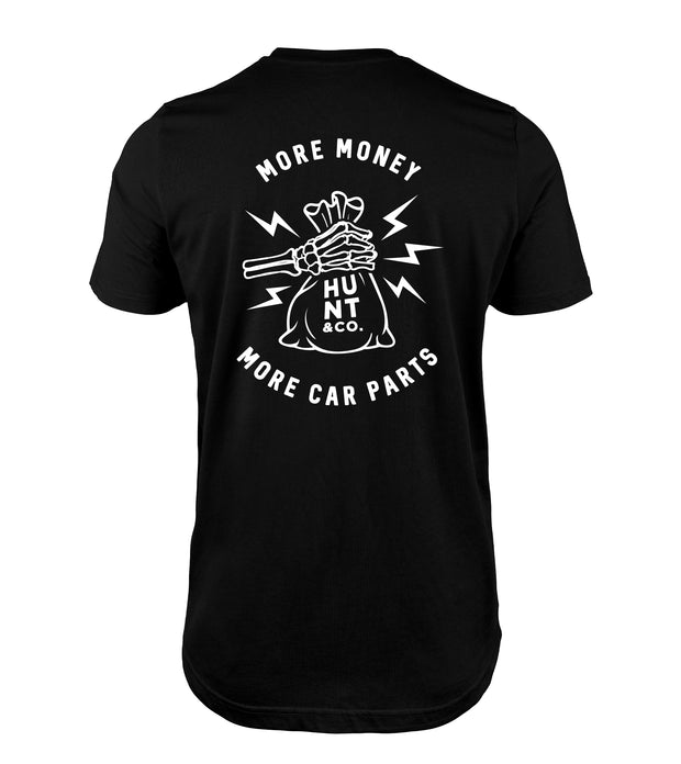 More Money More Car Parts Tee - Black