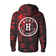 "Circle ""H"" Logo Sweatshirt - Red Tie Dye"