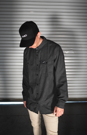 Dark Gray Button Up