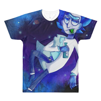 Mens Space Rick All Over Print Tee Shirt