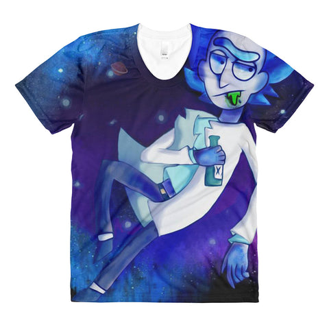 Womens Space Rick All Over Print Tee Shirt
