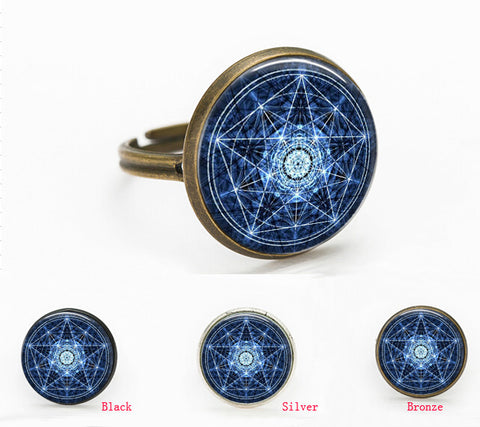 Glass Pentagram Ring