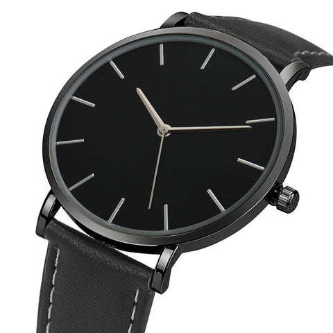Men Luxury Leather Band Wrist Watch