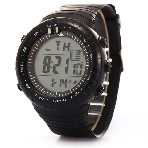 Men LED Date Sport Military Rubber Waterproof Quartz Watch