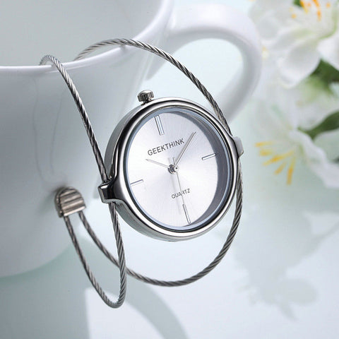 uxury Double Ring Bracelet Watch