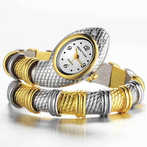 Ladies Snake Shaped Bracelet Watch