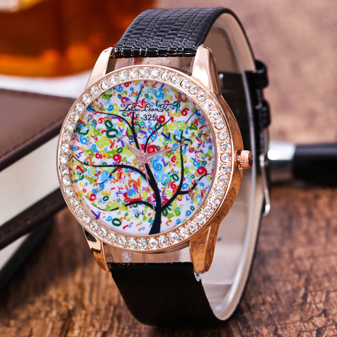 Best Time Unisex Quartz Leather Analog Wrist Simple Watch Round Case