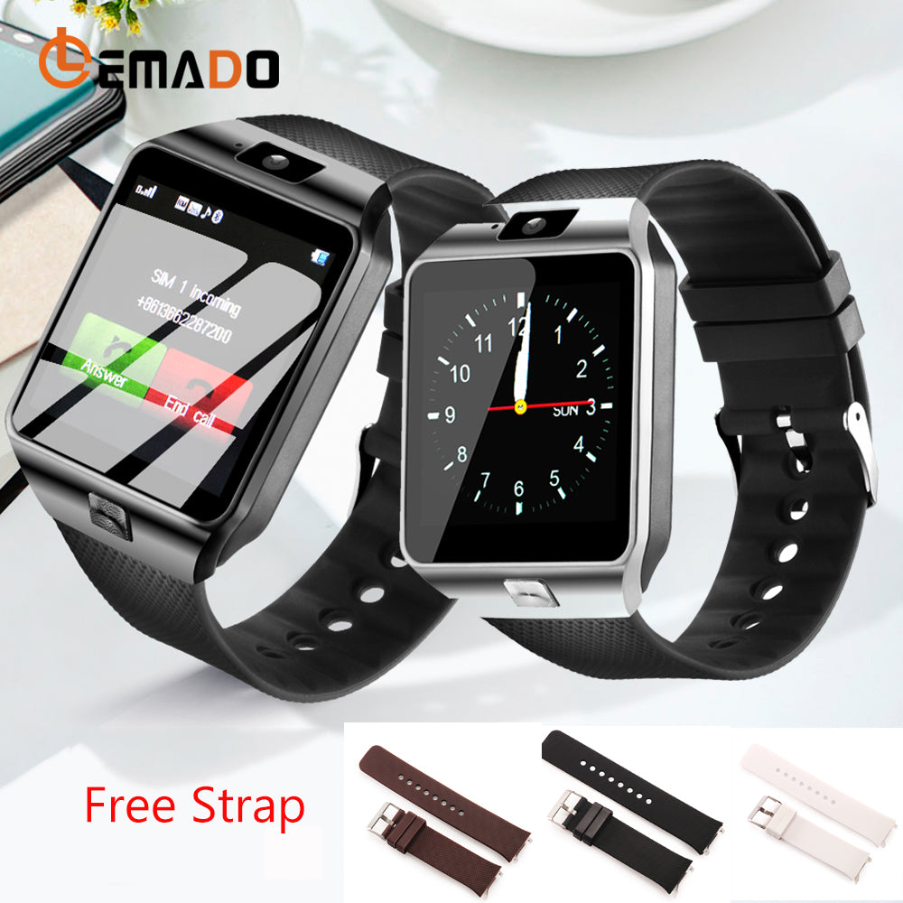 LEMADO Smart Watch DZ09 Bluetooth Men Wristwatch Android Phone Call Relogio 2G SIM TF Card Smartwatch with DZ09 Battery Strap