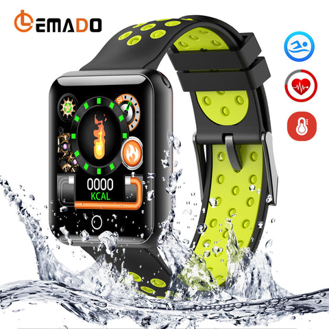 LEMADO New Smart Watch Waterproof Professional Activity Tracker Smartwatch Heart Rate Blood Pressure Long-term Standby For Men