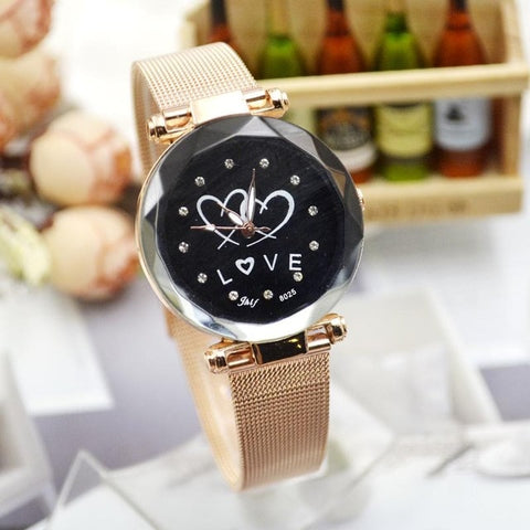 Best Time New Fashion Smiling Face  Student Han Edition Net Belt Female Watch 1