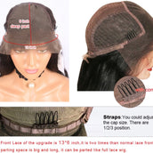 613 Virgin Body Wave Wig Unit- 1/2 Lace 13x6 Frontal
