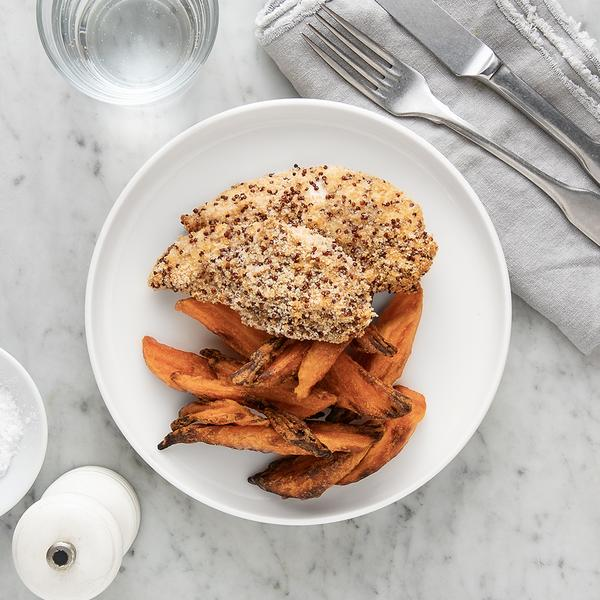 Quinoa Crusted Chicken: Light