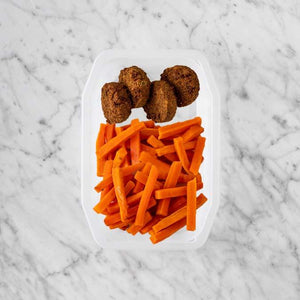 100g Baked Falafel 250g Honey Baked Carrots 250g Honey Baked Carrots