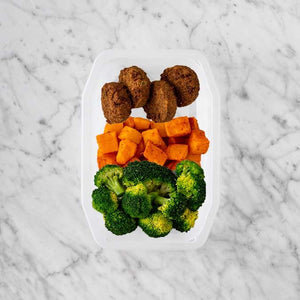 100g Baked Falafel 250g Rosemary Baked Sweet Potato 250g Broccoli